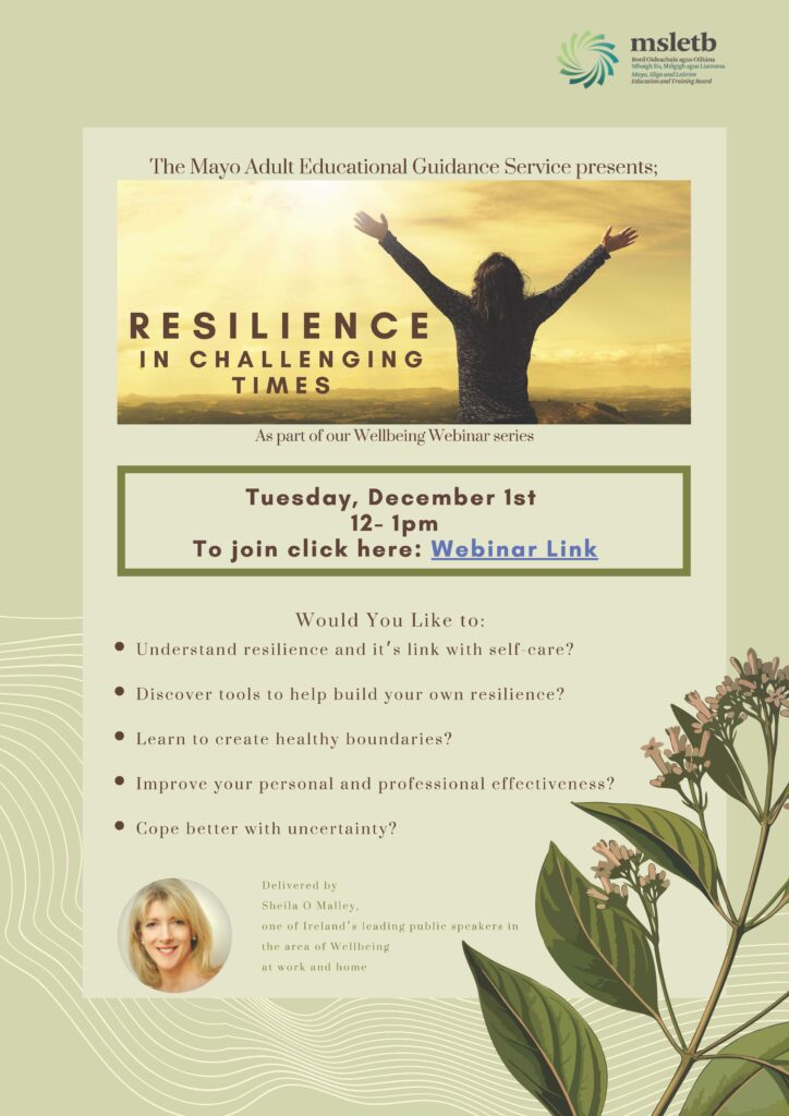 Resilience in Challenging Times Webinar